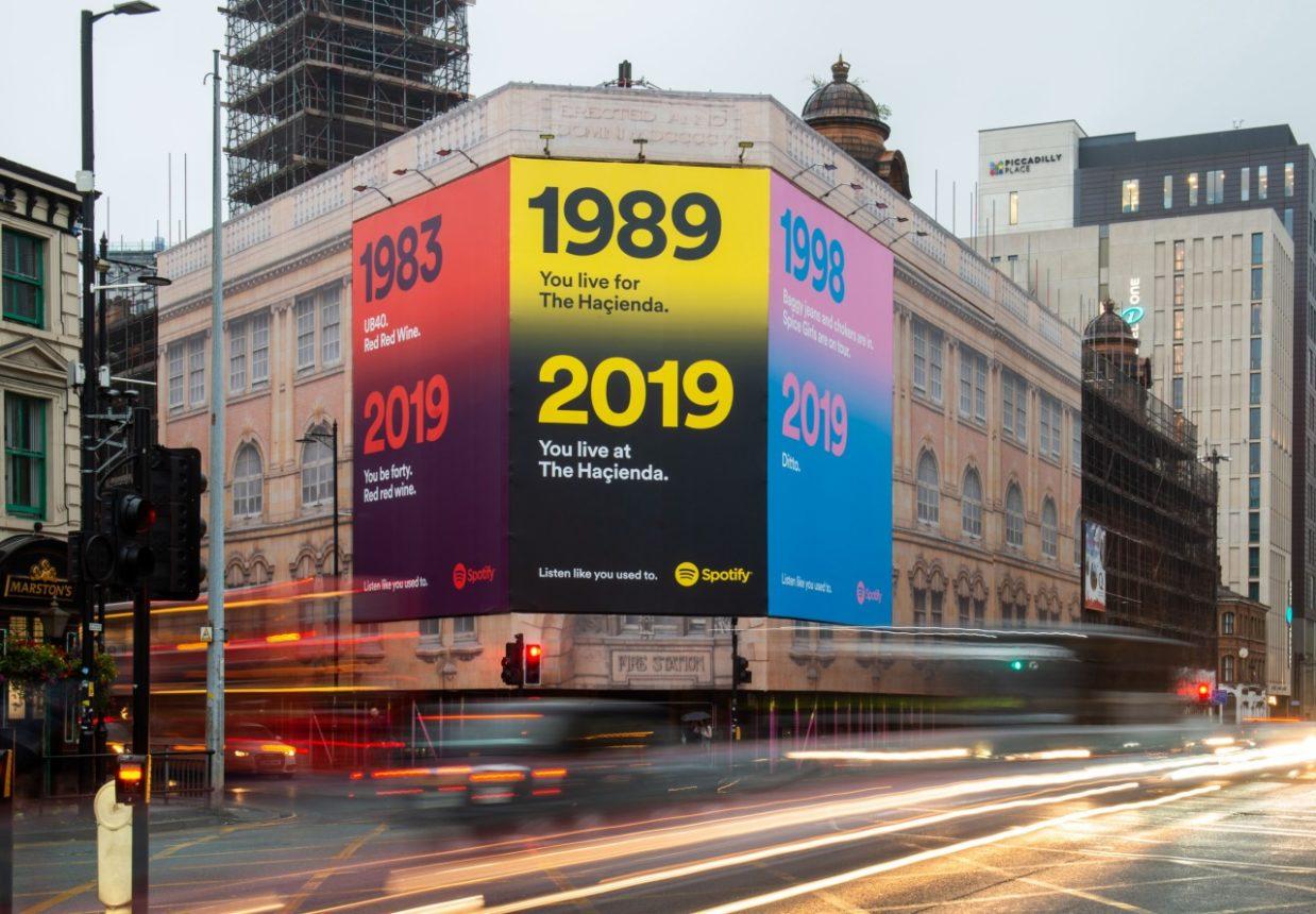 Campagna affissioni Spotify 2019